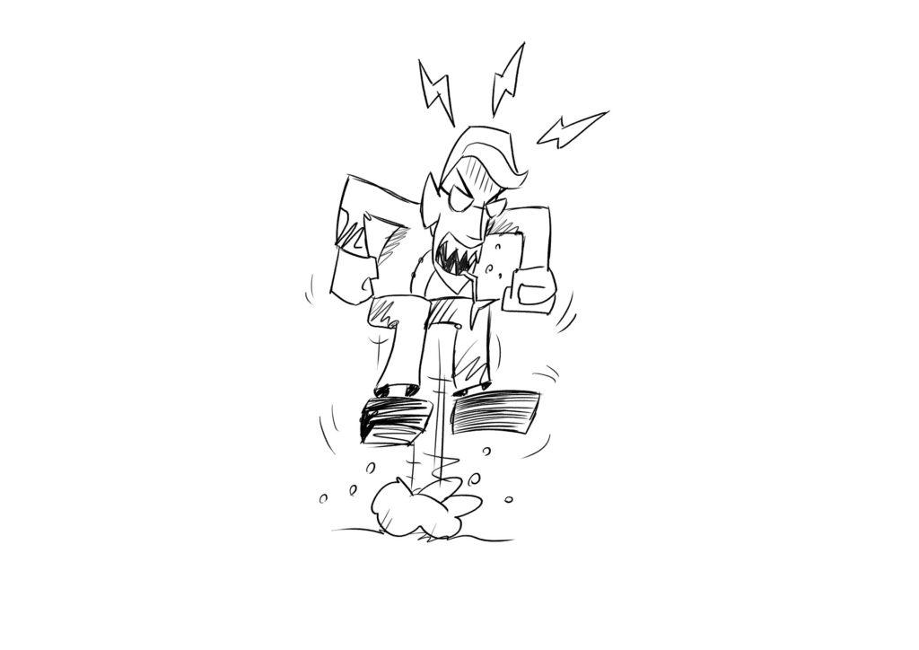 homme en colère dessin